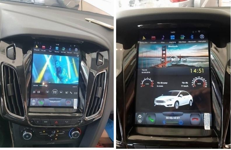 So sánh về nội thất thiết kếFord Focus Sport và Hyundai Elantra Sport 2018(2)