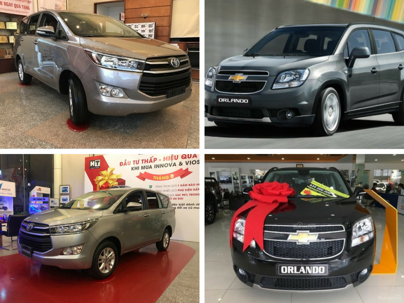 So sánh Toyota Innova 2018 và Chevrolet Orlando 2018