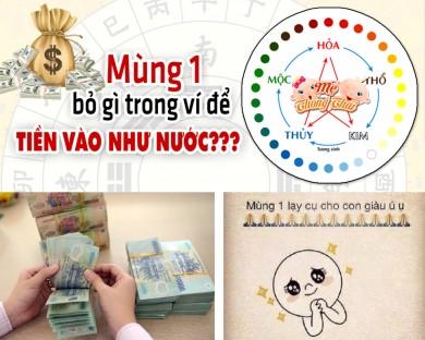 Mệnh Kim, Mộc, Thủy, Hỏa, Thổ bỏ gì vào ví ngày mùng 1 để giàu ú ụ ?