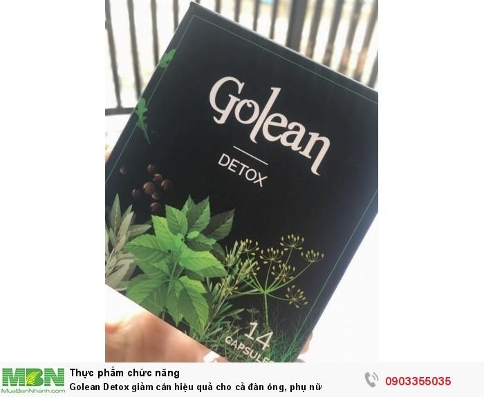 Review trà giảm cân Golean Detox giảm béo an toàn lấy lại vóc dáng thon gọn