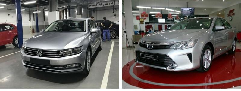 So sánh xe Volkswagen Passat và Toyota Camry tại Việt Nam