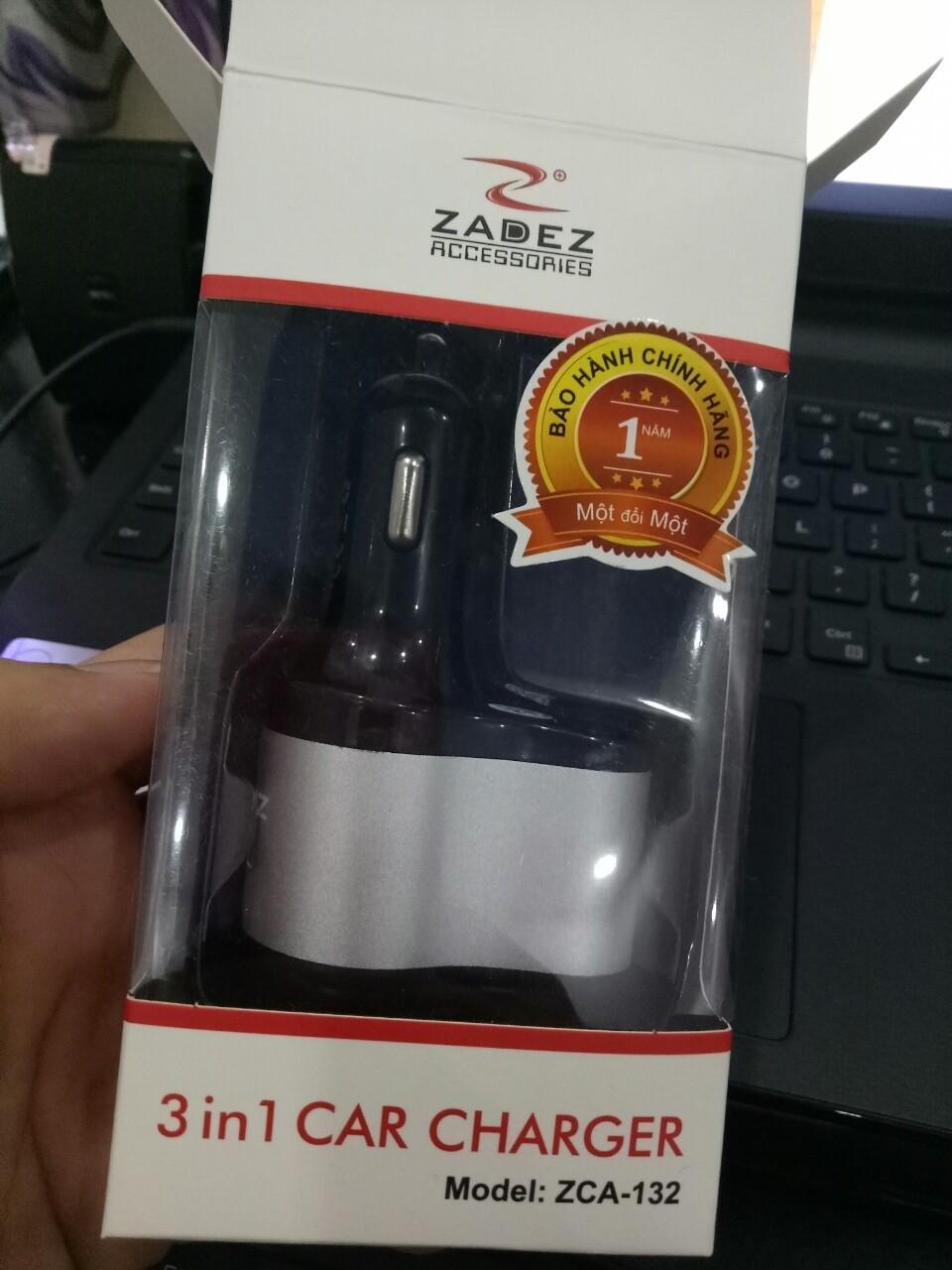 cốc sạc xe hơi Zadez ZCA-132