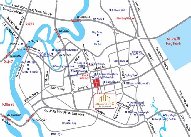 Đất nền dự án mega City 2 - Nhơn Trạch - Đồng Nai