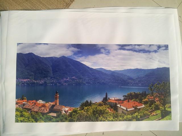 Khung ảnh miền núi yên bình - in tranh thiên nhiên - in tranh canvas mực nước tại In Kỹ Thuật Số