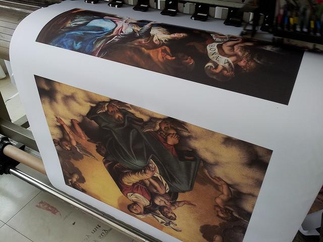 In tranh ảnh tôn giáo trên chất liệu canvas