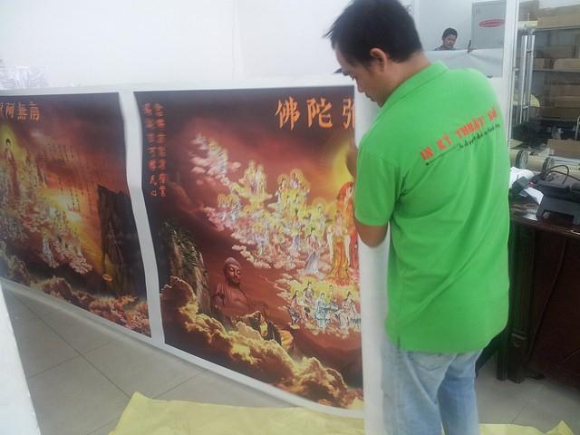 Tranh canvas dùng để thờ cúng, trang trí phòng thờ