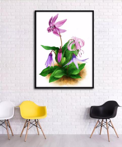 tranh hoa treo tường 1