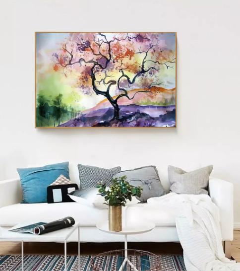 tranh treo tường trang trí phòng khách