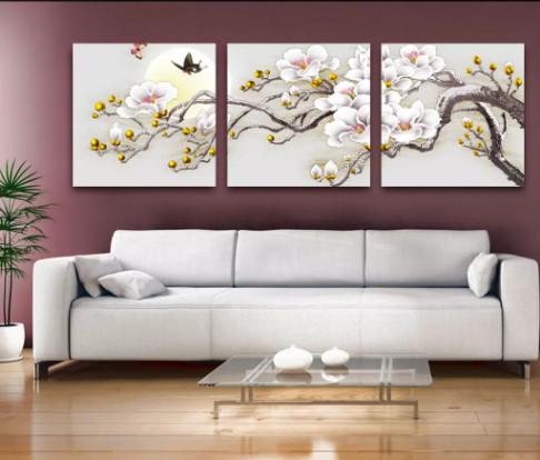 tranh bộ treo tường phòng khách 2