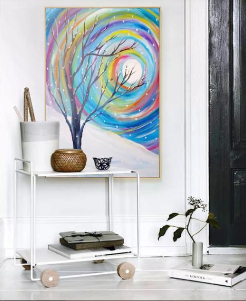 những bức tranh đẹp treo phòng khách 2