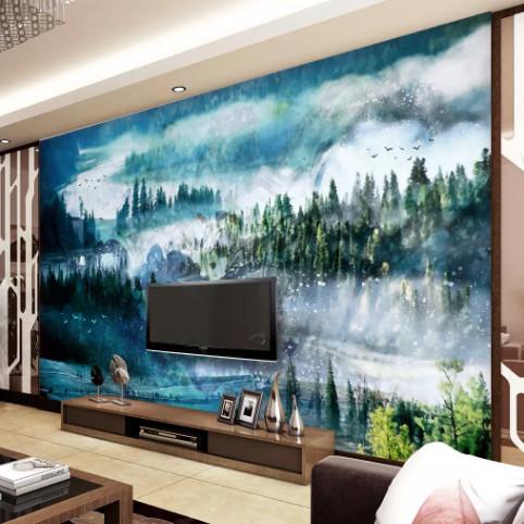 tranh sơn thủy treo phòng khách