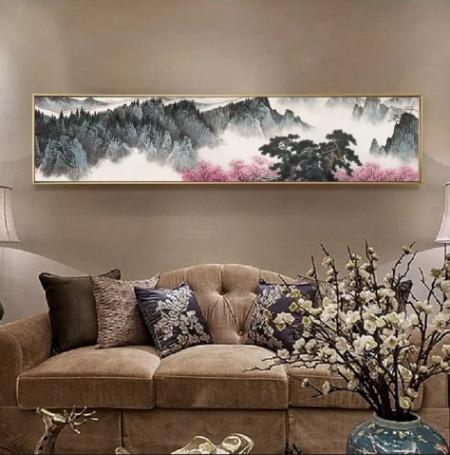 tranh sơn thủy treo phòng khách 2