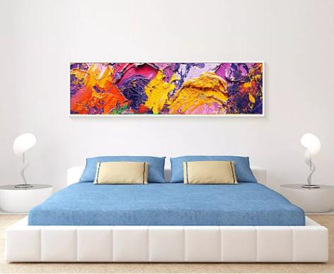 Xóa tan mệt mỏi với lối trang trí tranh sơn dầu treo phòng ngủ