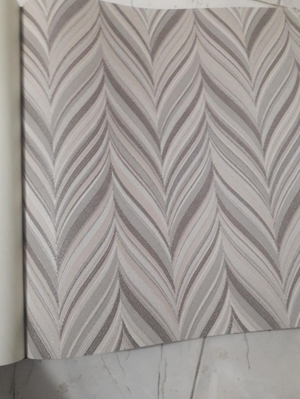 Vải dán tường sợi thủy tinh hoa văn sọc dọc tạo điểm nhấn
