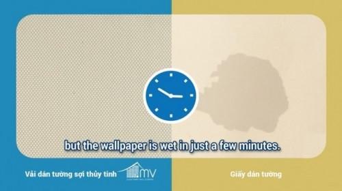 Kiểm tra việc bị thấm nước của vải dán tường sợi thủy tinh và giấy dán tường