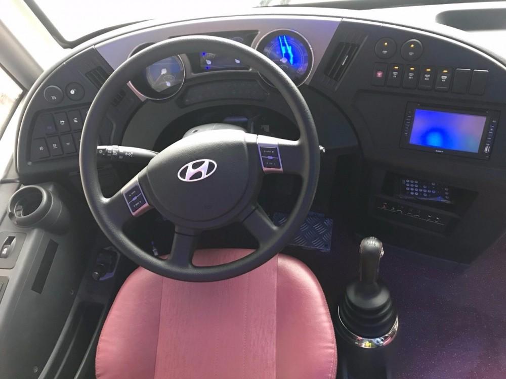 Buồng lái xe khách được thiết kế rộng rãi, tạo sự thoải mái nhất cho người lái.