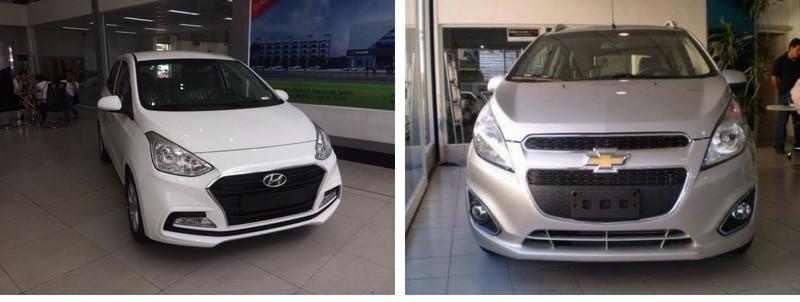 So sánh Cheverolet Spark và Hyundai i10