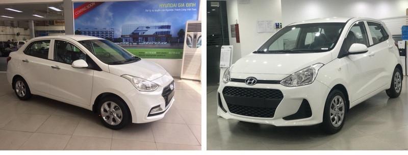 So sánh các phiên bản Hyundai i10 bản đủ và bản thiếu