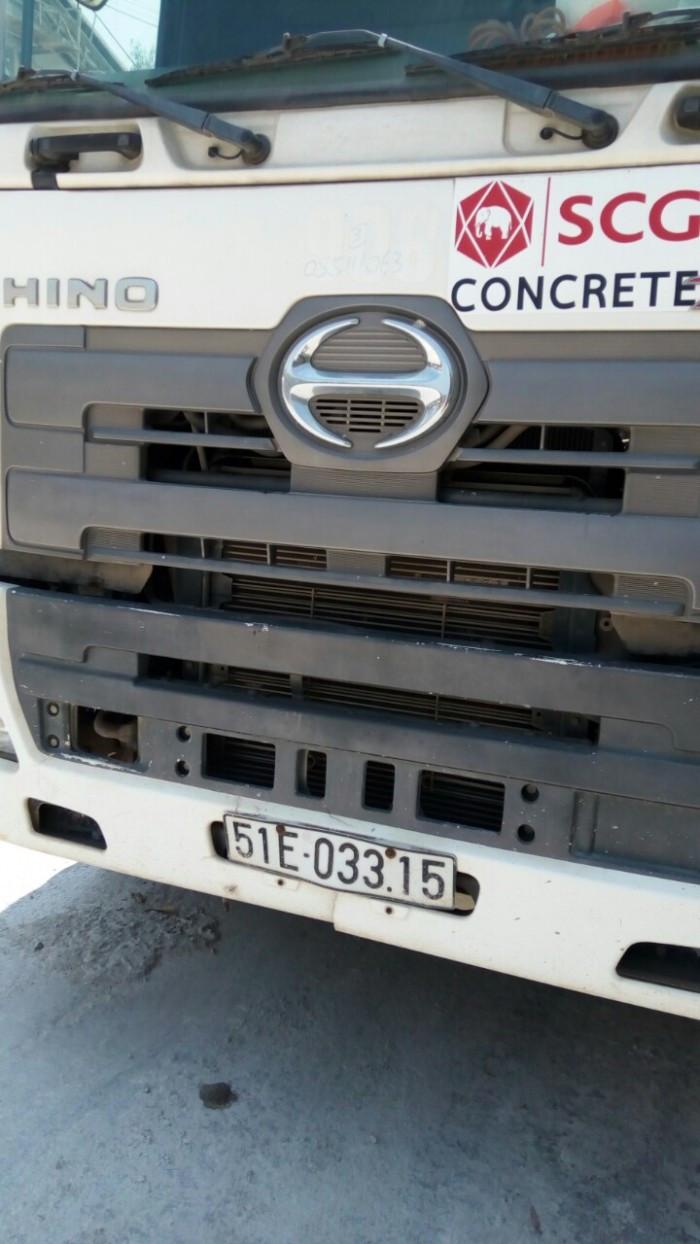 xe bồn trộn bê tông Hino
