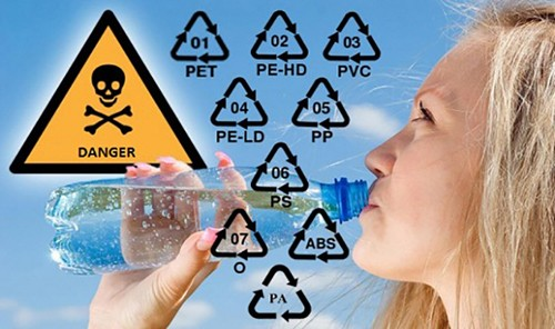 Không chú ý kí hiệu dưới nắp chai, hộp nhựa dễ dẫn tới ung thư(1)