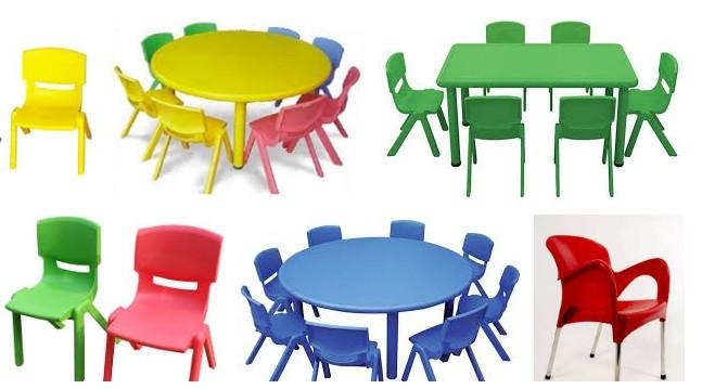 Kinh nghiệm chọn mua bàn ghế nhựa đúc cho bé