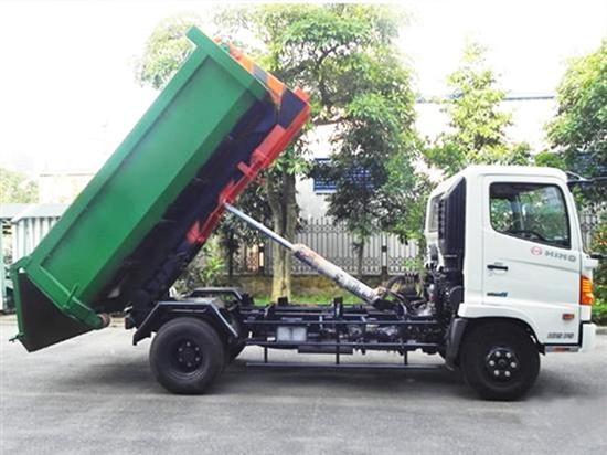 Ưu điểm nổi bật của xe cuốn ép rác Hino thùng rời