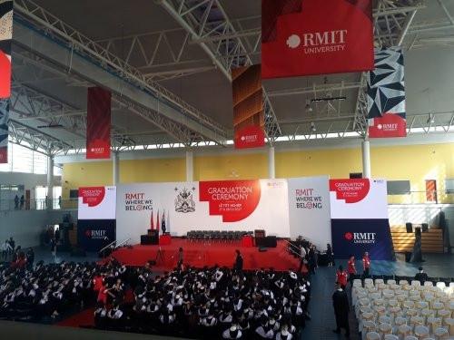 Cho thuê màn hình Led P3 - Chương trình Lễ tốt nghiệp Đại học RMIT 2017