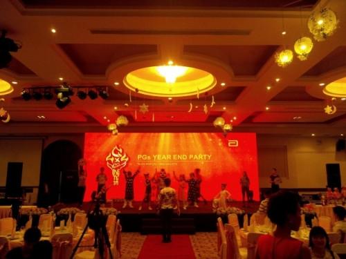 Cho thuê màn hình Led P3 - Tiệc tất niên Công ty 3A tại Diamond Palace quận Phú Nhuận