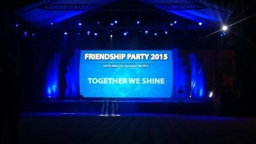 Cho thuê màn hình Led P3 - Friendship Party 2015 tại Tân Cảng, Bình Thạnh