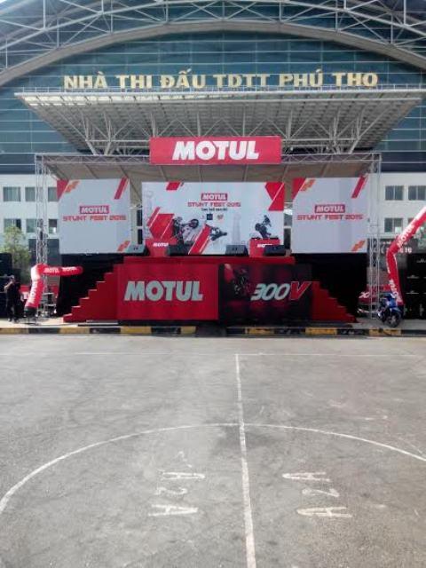 Cho Thuê Màn Hình Led P3 và P4 tại TPHCM - Motul Stunt Fest Viet Nam - Sân vận động Phú Thọ, quận 10