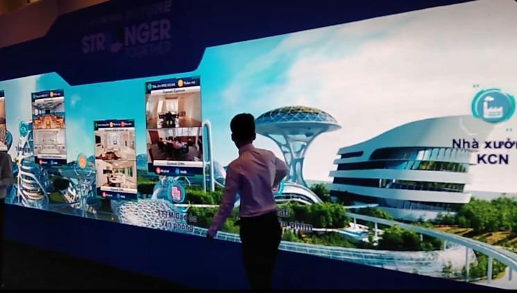 Cho thuê màn hình Led sân khấu sự kiện giới thiệu dự án bất động sản cao cấp - sử dụng màn hình Led cảm ứng điêm chạm