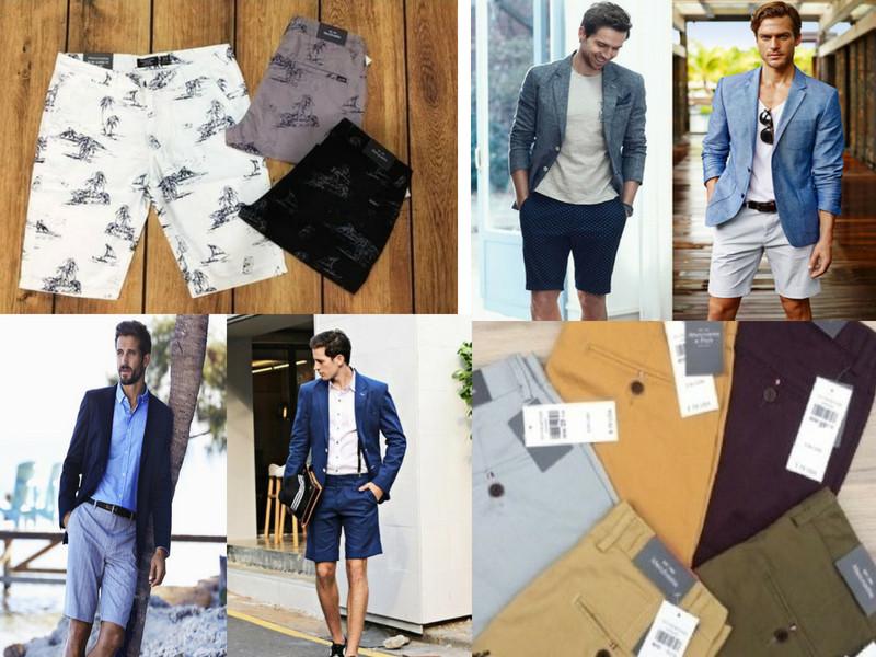 Kết hợp quần short với áo sơ mi và áo khoác blazer hoặc vest