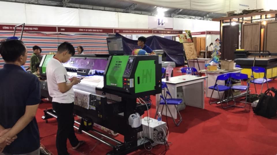 Hình ảnh gian hàng của công ty MayInQuangCao.com tại Triển lãm Quốc tế Vietbuild TPHCM lần 1 năm 2018