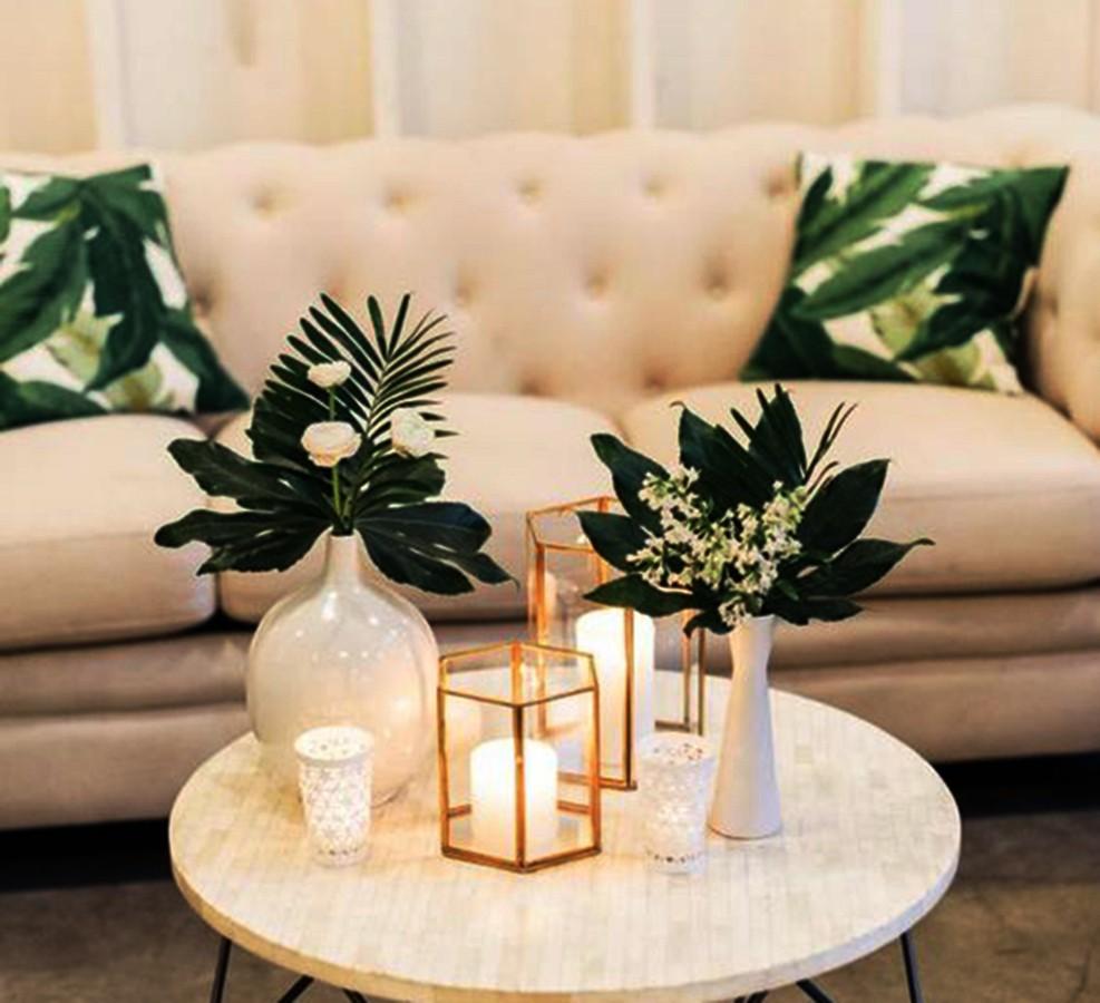 Gối tựa lưng Aura trang trí cùng sofa thêm phần sang trọng hiện đại
