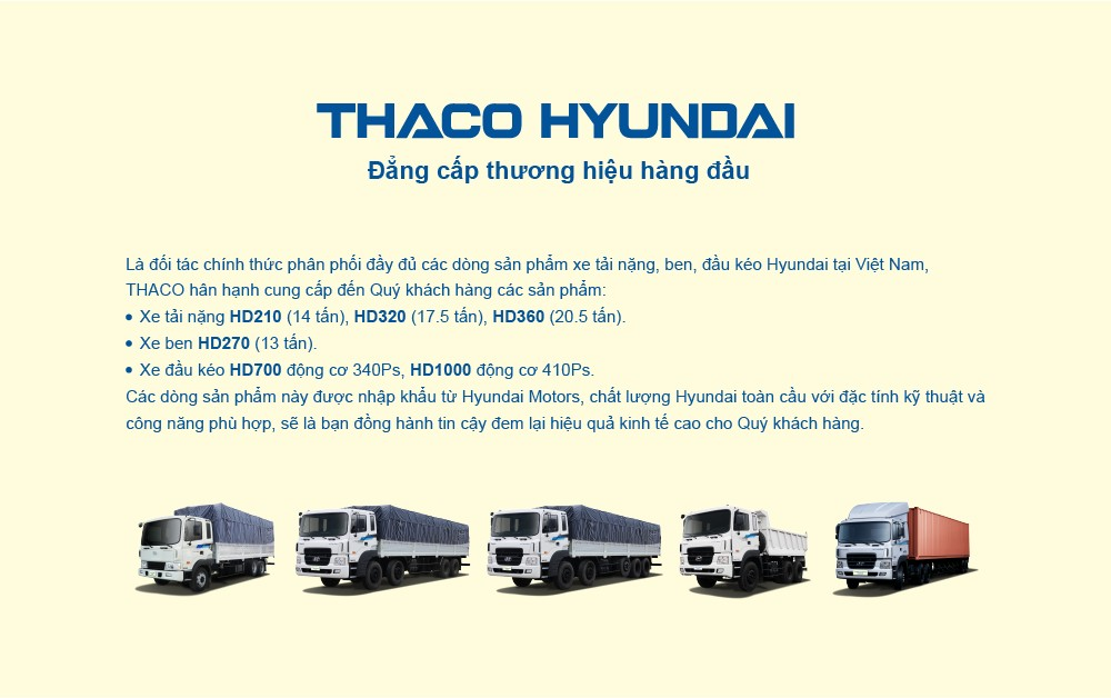 Hyundai Motors toàn cầu tiếp tục chọn Thaco là đối tác xe tải nặng và đầu kéo Hyundai