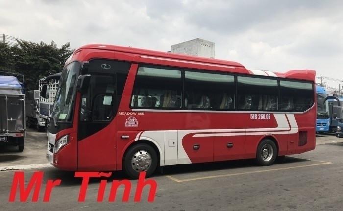 Đánh giá xe 29 chỗ bầu hơi Thaco TB85 E4 2018