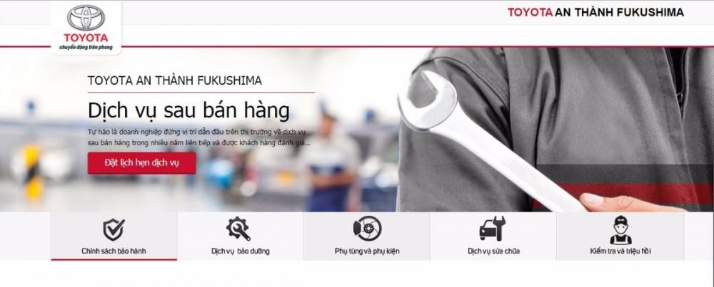 Chính sách bảo hành Toyota An Thành