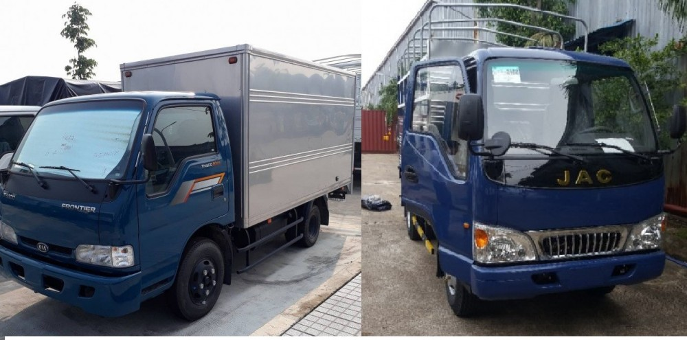 So sánh xe tải Kia 2.4 tấn và xe tải Jac 2.4 tấn: nên chọn xe tải nhẹ nào?