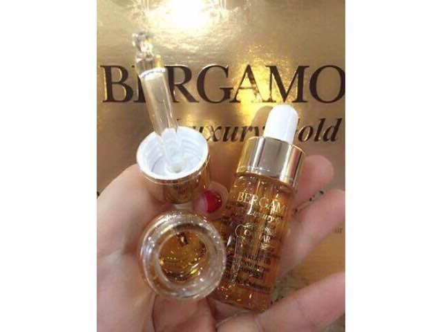 Sử dụng tinh chất nâng cơ BERGAMO 24K Gold Brilliant Essence để yêu thương làn da của mình các bạn nhé!(1)