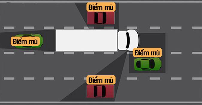 Kỹ năng lái xe an toàn khi đi gần xe container(1)