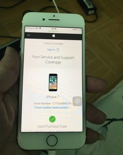 Kiểm tra IMEI iphone 7 xách tay