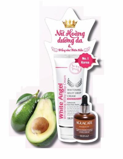 Trắng da với White Angel PH 5,5 và tinh chất bơ Aguacate 99,6% Skinaz