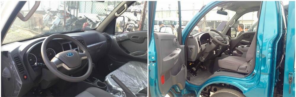 So sánh nội thất xe tải 1t5
