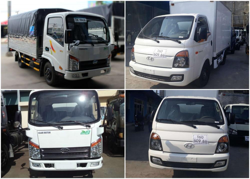 So sánh xe tải Hyundai 1T5 và xe tải Veam 1T5 về trang bị ngoại thất