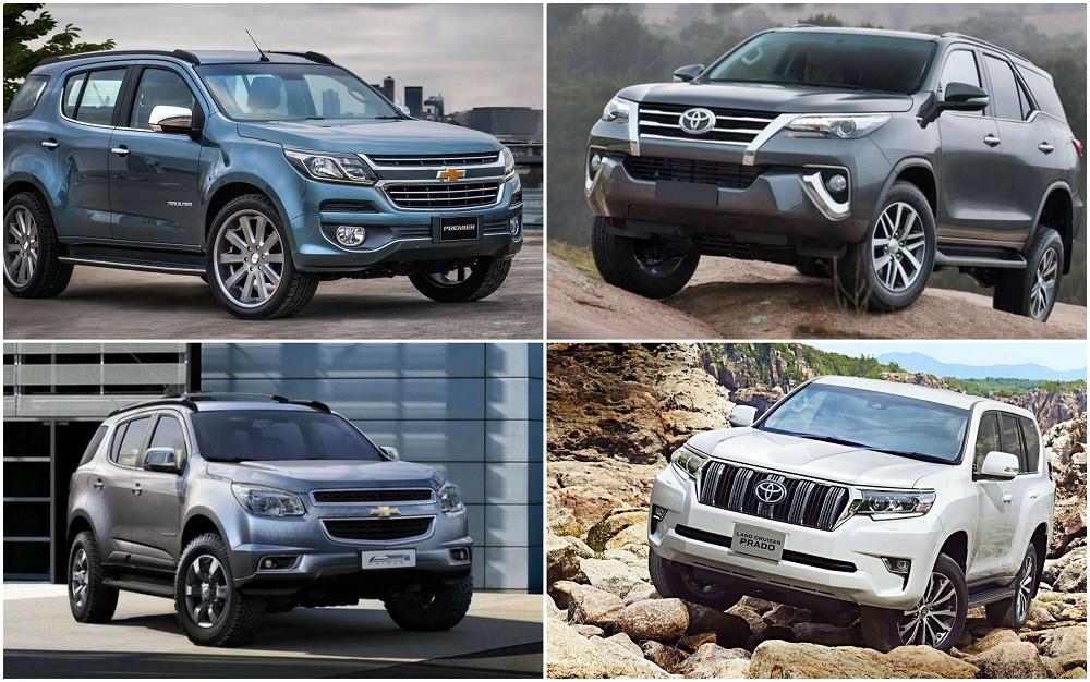 So sánh Chevrolet Trailblazer 2018 và Toyota Fortuner 2018