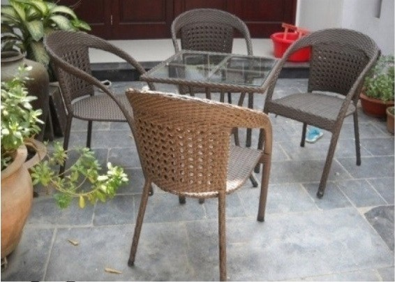 Giá bàn ghế giả mây cafe hiện nay(4)