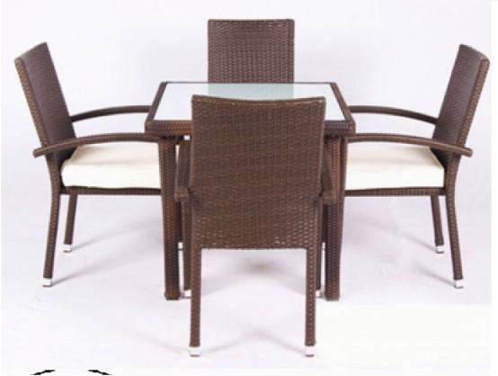 Các bộ bàn ghế giả mây giá rẻ(4)