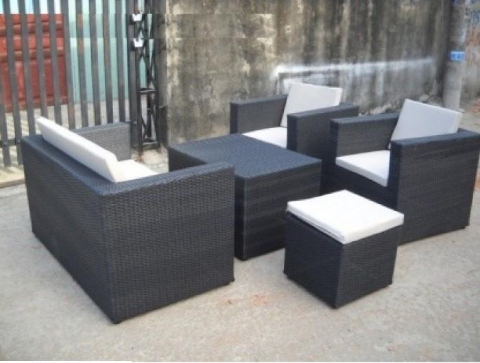 Các bộ bàn ghế giả mây giá rẻ(5)