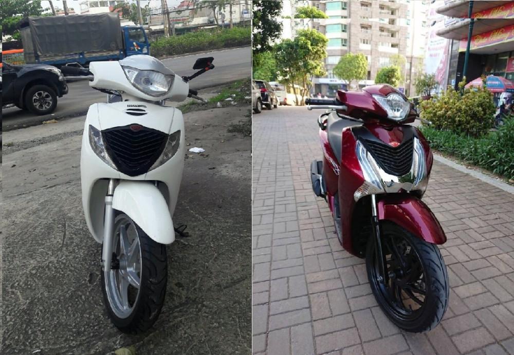 Thiết kế xe máy Honda SH nhập khẩu và SH Việt Nam