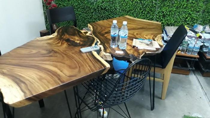 Ưu điểm của mặt bàn gỗ nguyên tấm làm từ gỗ tự nhiên